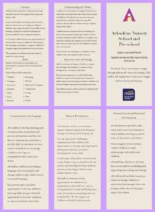 Curriculum leaflet